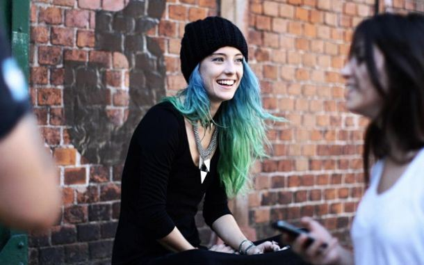 Chloe Norgaard Blue Hair Beauty Sarina Flores